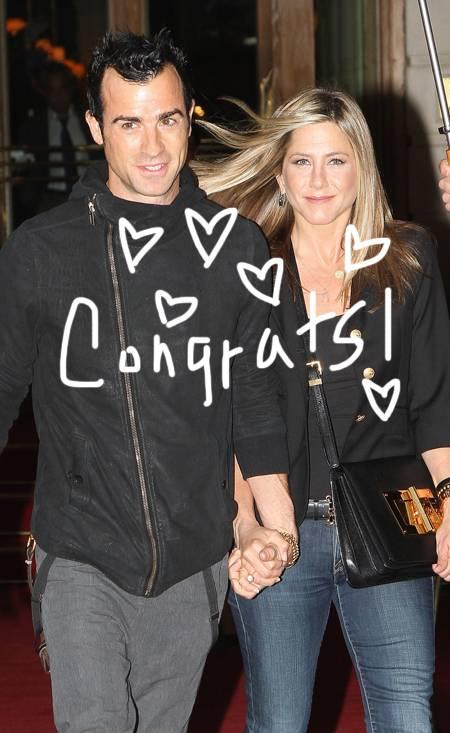 Jennifer Aniston And Justin Theroux Engaged Sad Single Gal of The ...