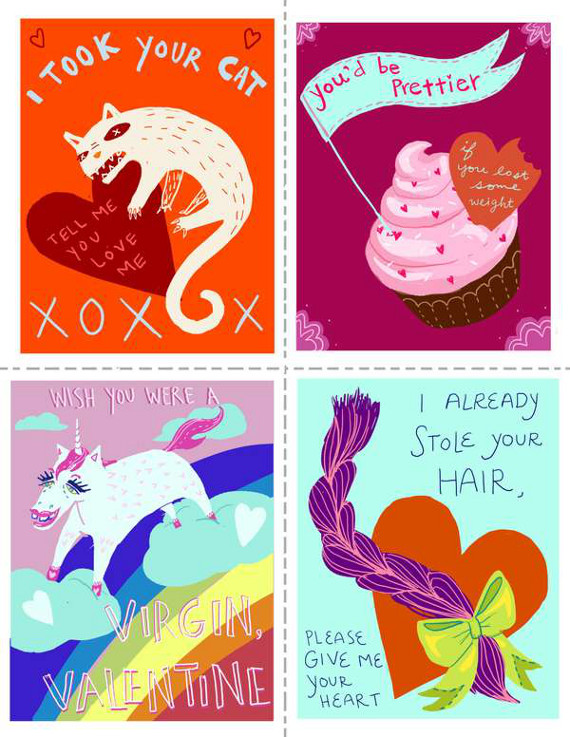 Real Valentines Day Cards THE SAD ADVENTURES OF A SINGLE GAL – Funny Printable Valentine Cards